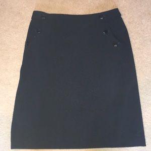 EUC Ann Taylor 2P Navy Office Skirt w/ pockets